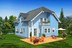 New house in the garden Royalty Free Stock Image