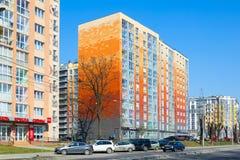 New house on Gorky street in Kaliningrad Royalty Free Stock Photography