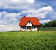 New house on grassland Stock Image