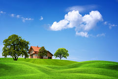 New house on green nature Stock Images