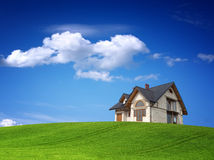 New house on the hill Royalty Free Stock Photo