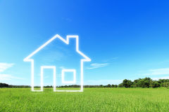 New house imagination vision Royalty Free Stock Photography