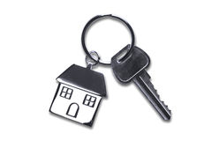 New house keys with clipping path Stock Photos