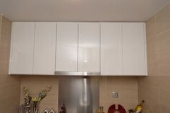 New house - the kitchen cabinets Stock Image
