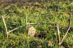 New house with land Royalty Free Stock Photo