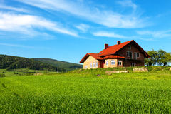 New house. In the mountains Royalty Free Stock Photography