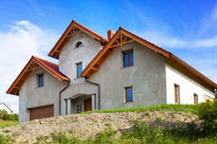 New house on the nature Royalty Free Stock Photo