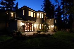 New House at Night royalty free stock photography