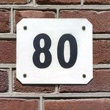 House number 80. New House number eighty 80 Royalty Free Stock Image