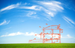 New house outline Stock Image
