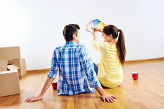New house paint Royalty Free Stock Photo