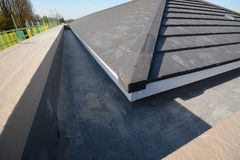 New house roofing for building construction Stock Image