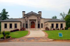 New House For Sale. Photographed new house for sale in Georgia Royalty Free Stock Image