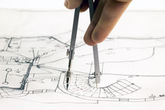 New house sketch Royalty Free Stock Image