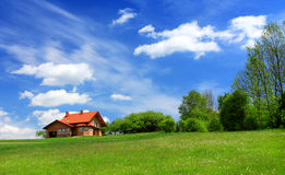 New house in spring Royalty Free Stock Photos
