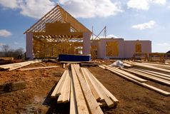 New house under construction Stock Images