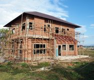 New house under construction Royalty Free Stock Photography