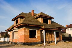 New house under construction Stock Photography