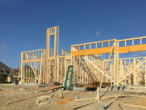 New house under construction background Royalty Free Stock Photography