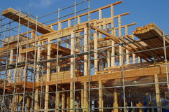 New house under construction. In Japan Stock Photo