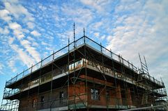 New house under construction Royalty Free Stock Photos