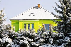 New house in winter Stock Images