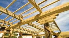 New house wood framing Stock Image