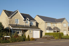 New Houses. New Homes on a Housing Estate Stock Images