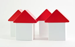 New houses. Block houses. new house concept Stock Photography