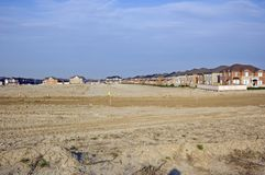 New houses. And house's construction sites Stock Photography
