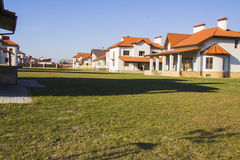 New houses with court Stock Photography