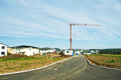 New houses with crane Stock Image