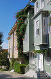 New houses in Istanbul. Street with modern residential houses in the center of Istanbul, Turkey royalty free stock photos