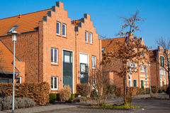 New houses with red bricks Stock Image