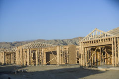 New Houses Under Construction Royalty Free Stock Photo