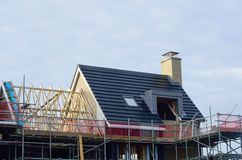 New Houses under construction Royalty Free Stock Image