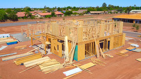 New Houses Under Construction Stock Photo