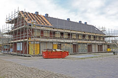 New houses under construction in Netherlands. New houses under construction in the Netherlands Royalty Free Stock Photography