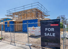 New houses under construction for sale Royalty Free Stock Photos