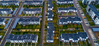 New houses view from above Royalty Free Stock Photos