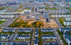 New living apartments aerial view Stock Photos