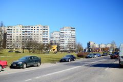 New houses in Vilnius city Justiniskes district Royalty Free Stock Photography