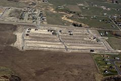New housing. Aerial view of new housing development Royalty Free Stock Photos