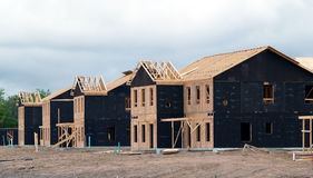 New housing. The construction of military housing on post Stock Photography