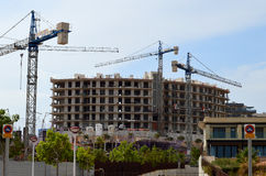 New Housing Being Built In Spain Spanish Construction Site Royalty Free Stock Photos