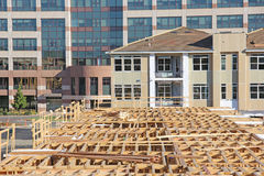 New Housing Construction, office building background Stock Images