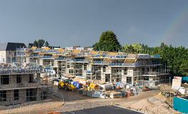 New Housing Development Under Construction Stock Images