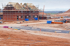 New housing estate construction site Stock Photos