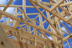 New housing. A new house being built Royalty Free Stock Image