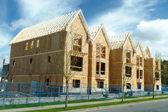 Row Houses Under Construction Royalty Free Stock Photos